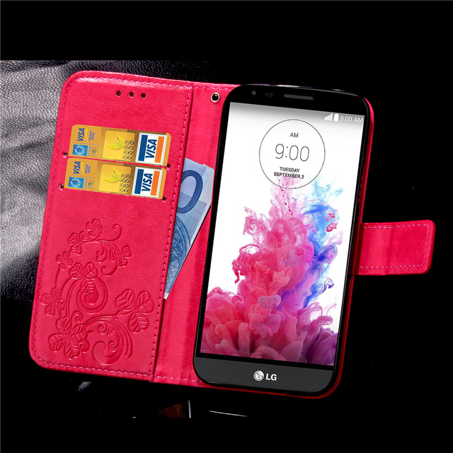 For Coque LG G3 Stylus Case Leather Flip Cover