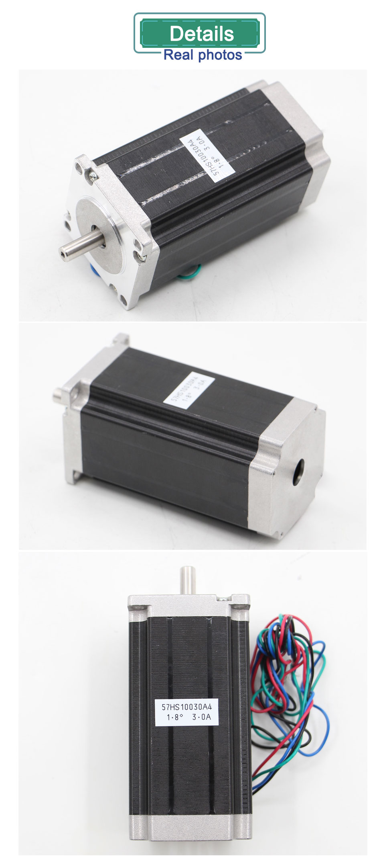 NEMA23 stepper motor 57 X 100mm 3A  2.5N.m CNC stepping motor 357Oz-in 8mm shaft for engraving machine for 3D printer