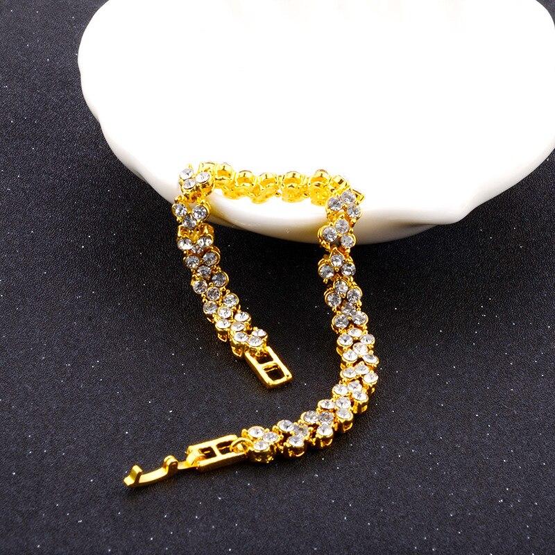 5110736483_873398036 - DIEZI Exquis Luxe, Bracelet En Cristal Romain, Rose Or Argent Couleur ,