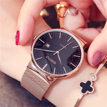 GIMTO Brand Rose Gold Quartz Women Watches Luxury Steel Strap Clock Bracelet Ladies Calendar Wrist Watches Female Watch Relogio gimto brand luxury crystal women watches rose gold steel clock bracelet ladies quartz watch female wristwatch relogio feminino
