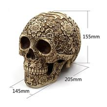 Realistic Resin Human Skull Halloween Decor