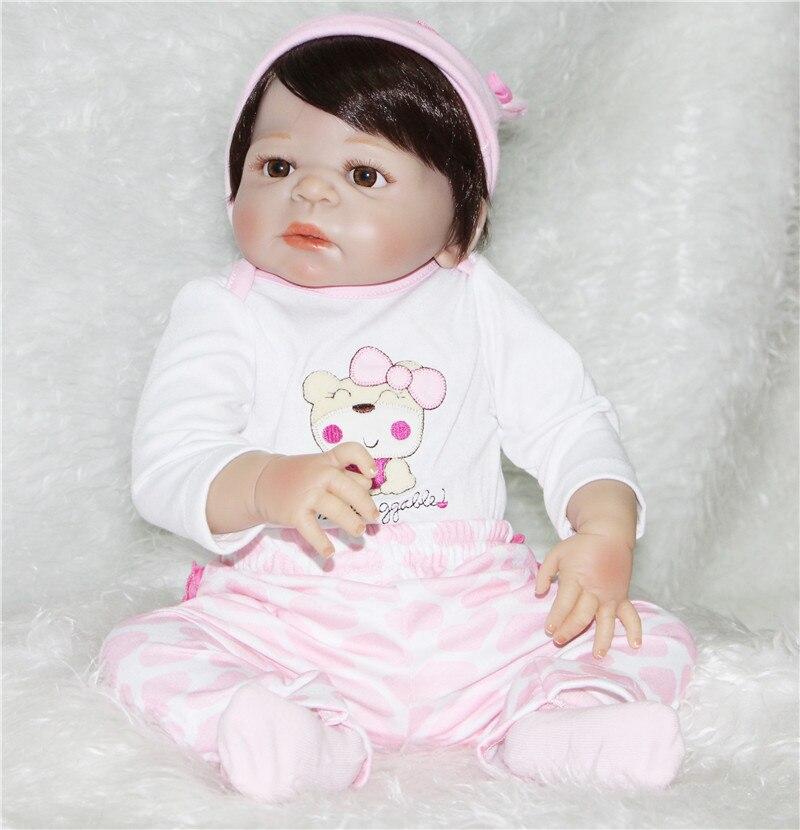 55cm boy reborn babies dolls Full Body Silicone Reborn Baby Doll Toys Newborn baby Doll children Gift Birthday Gift bebe bonecas