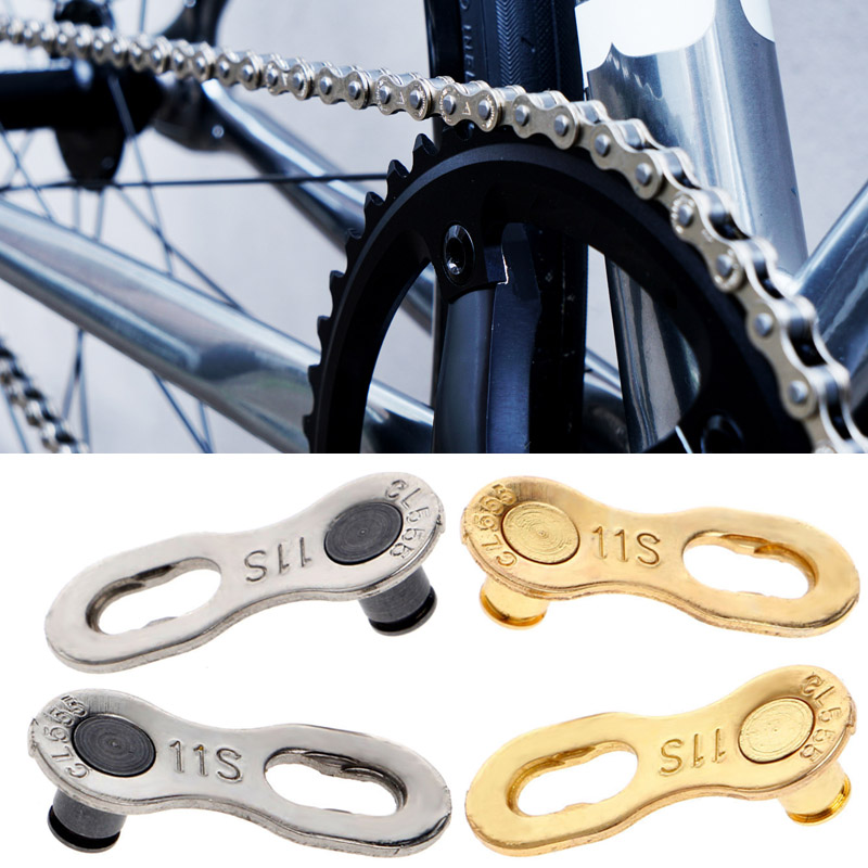 Stainless Steel MTB Road Bike Bicycle Chain Buckle Connector 11 Speed Quick Clip