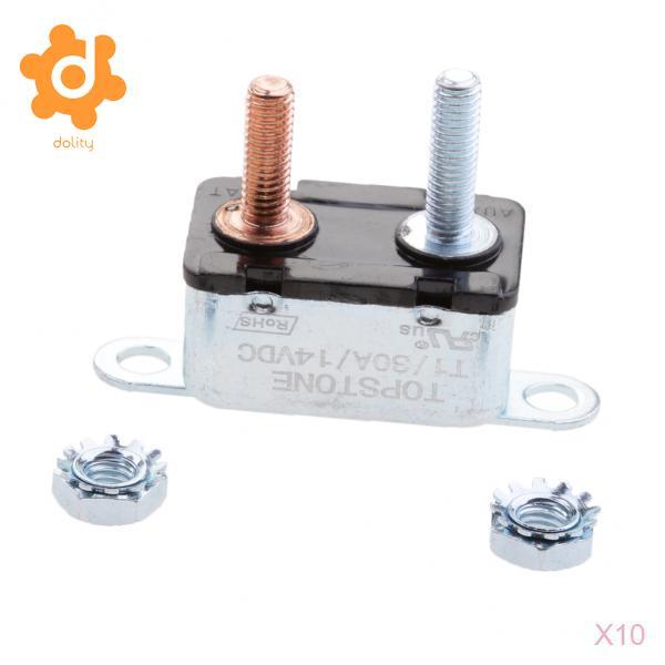Circuit Breakers & Disconnectors Auto Reset 12V 12V Circuit Breaker Car Automatic Fuse Metal Stud Bolt 20Amp