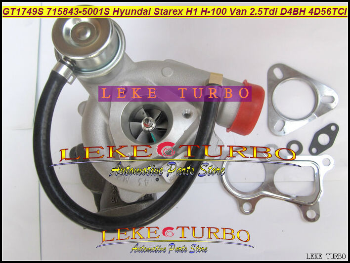 Free Ship Turbo GT1749S 28200-42560 716938 716938-5001S Turbocharger For HYUNDAI Van Commercial Starex H1 02 H-1 D4BH 4D56T 2.5L