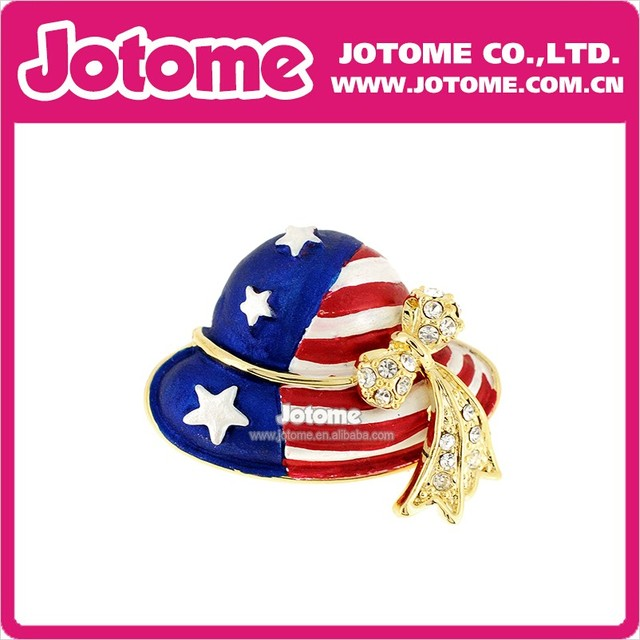 Hot sale Rhinestone Hat American flag for July 4th Pendant-in ... f66443f1e4d9
