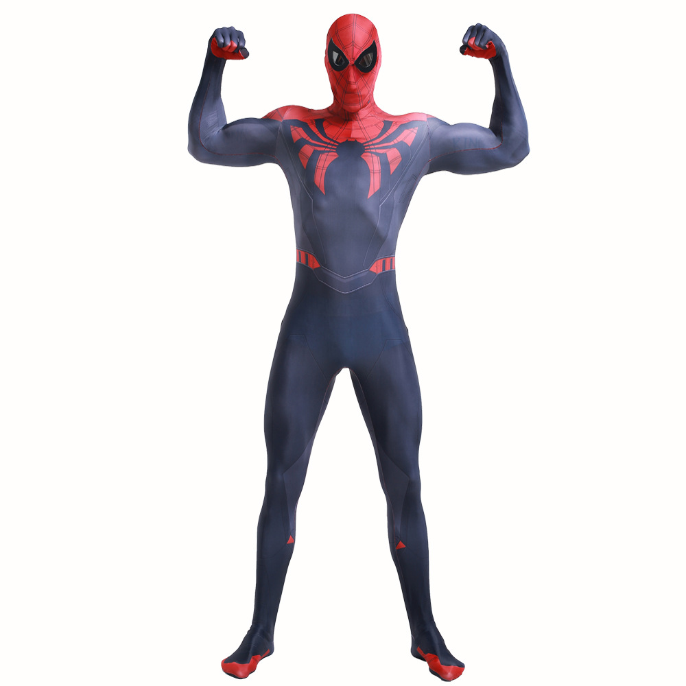 Mens Spider Man Costume 3D Printed Superior spider man Bodysuit Hallowen Otto Gunther Octavius jumpsuit Cosplay with mask