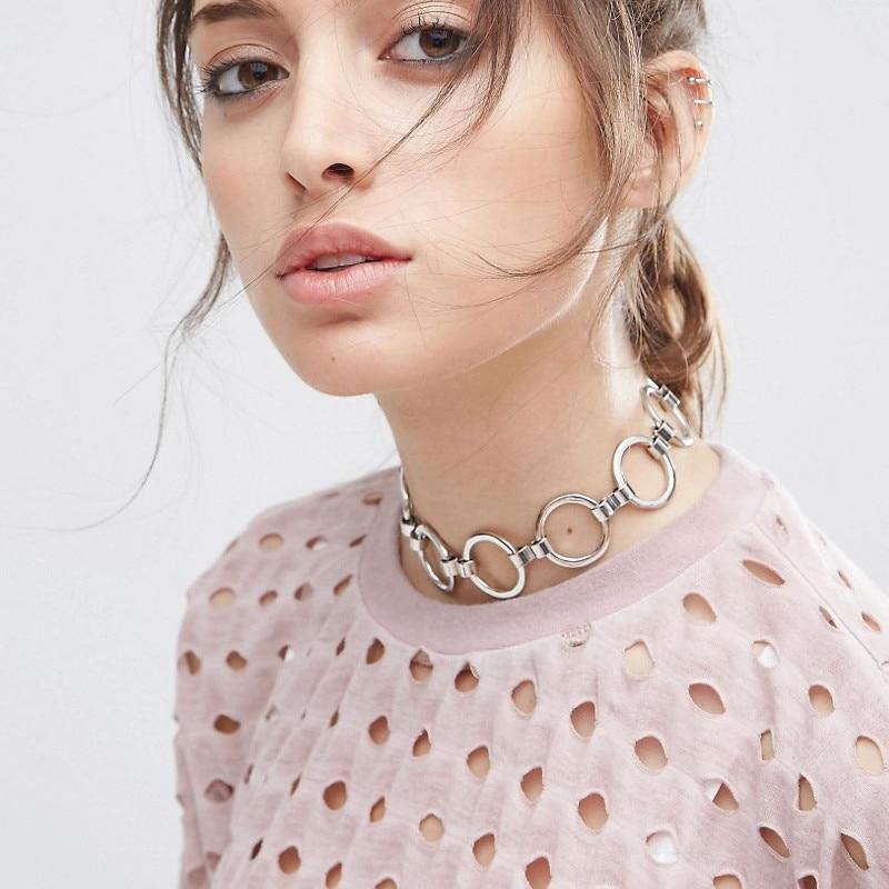 Горячие Новые модные аксессуары цвета смешивания круглый металлический колье ожерелье для пара влюбленных N187
