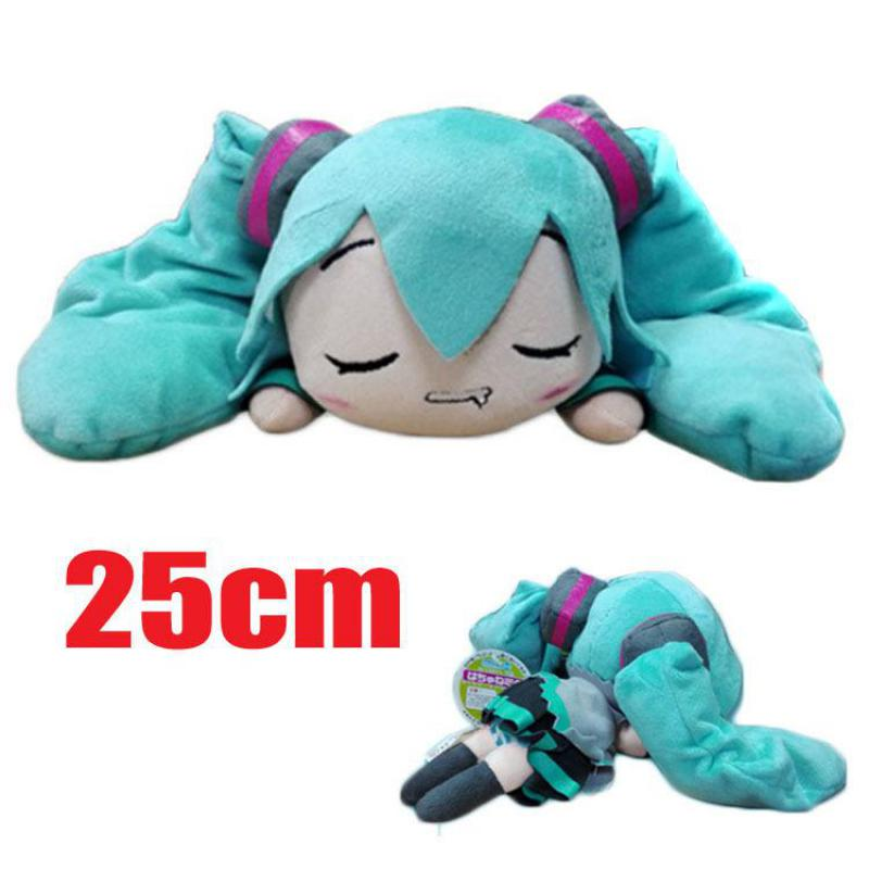 Cute Anime Hatsune Miku Adult Plush Slippers Soft Toys Pillow Stuffed Figure Dolls Cosplay Girls Kids Children Birthday Gifts