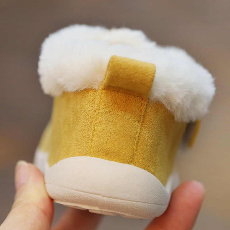 Invierno 2019 bebé niño Botas botas de bebé niñas niños botas de nieve al aire libre antideslizantes de fondo suave niño Botas, zapatos para niños