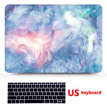 Marble Pattern Laptop Hard Shell Case+ Rubberized Keyboard Cover For Apple Macbook Pro Touch Bar 12/ 13/15 Air 11 / 13