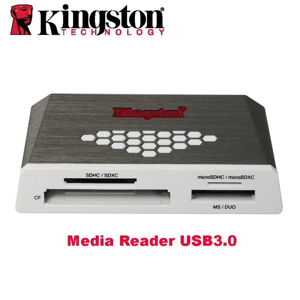 Kingston Micro SD Lecteur de Carte USB3.0 Médias Lecteur CF TF MS SDHC/SDXC UHS-I Microsd Multi-fonction Flash Carte mémoire USB Adaptateur