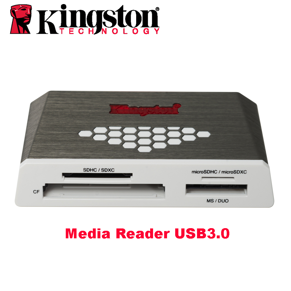 Kingston Micro lector de tarjeta SD de USB3.0 lector de medios CF TF MS SDHC/SDXC UHS-I Microsd Multi-función de Flash adaptador USB de tarjeta de memoria