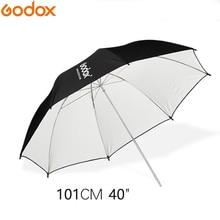 "GODOX 40 ""101 ซม.สีดำและสีขาวสะท้อนแสงแสงร่มสำหรับสตูดิโอ Photogrphy"