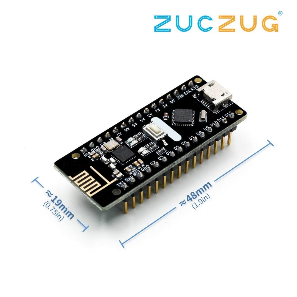 Nano V3.0, Micro USB Nano Bord ATmega328P QFN32 5 V 16 M CH340 für Arduino, mit NRF24l01 +, 2,4G wireless, Immersion Gold