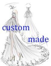 Özel yapılmış düğün elbisesi