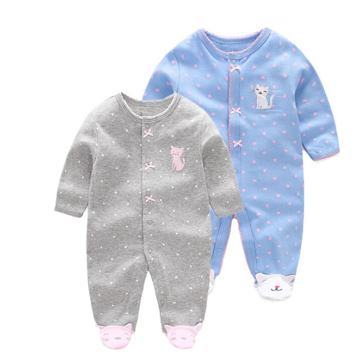 New 2018 baby girl clothes Long sleeve baby   Romper   Newborn toddler baby girl clothing set 100% cotton Baby Girl   Rompers   Newborn