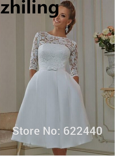wedding dresses with short sleeves knee length wedding dresses vintage lace wedding 9435