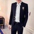 2016 New Arrivals cavalheiro Retro estilo custom made dos homens ternos de alta qualidade terno Blazer ternos para homens 2 peça ( paletó + calça )