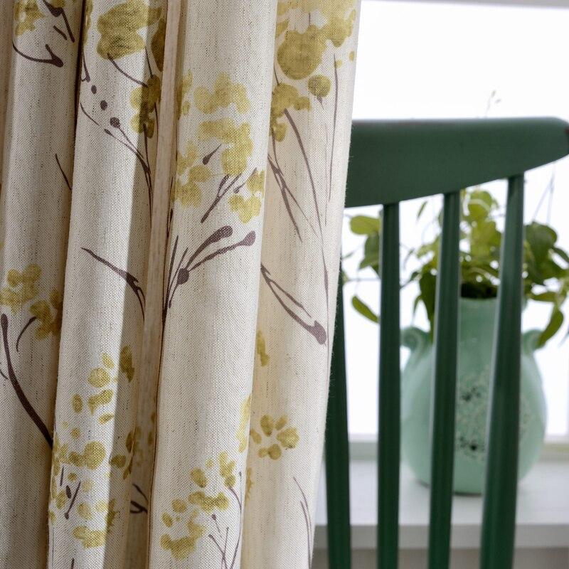 rideaux en lin a fleurs pour fenetre rideaux occultants fantaisie pour la chambre a coucher pour salon rideaux decoratifs modernes tulle