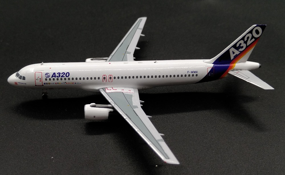 PM 1:400 Airbus A320-100 F-WWAI MSN-001 Alloy model Collection model Holiday gift 3d ручка feizerg f 001 blue