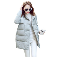 2016 New Womens Celebrity Duck Down Coat Jacket Thick Warm Loose Female Winter Parka Fashion Lapel Outerwear Jackets