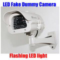 Indoor Outdoor waterproof Flashing LED Light Dummy Fake CCTV Security IR Camera