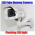 Interior Ao Ar Livre à prova d' água LED Piscando Luz Falso Manequim Câmera de Segurança CCTV IR