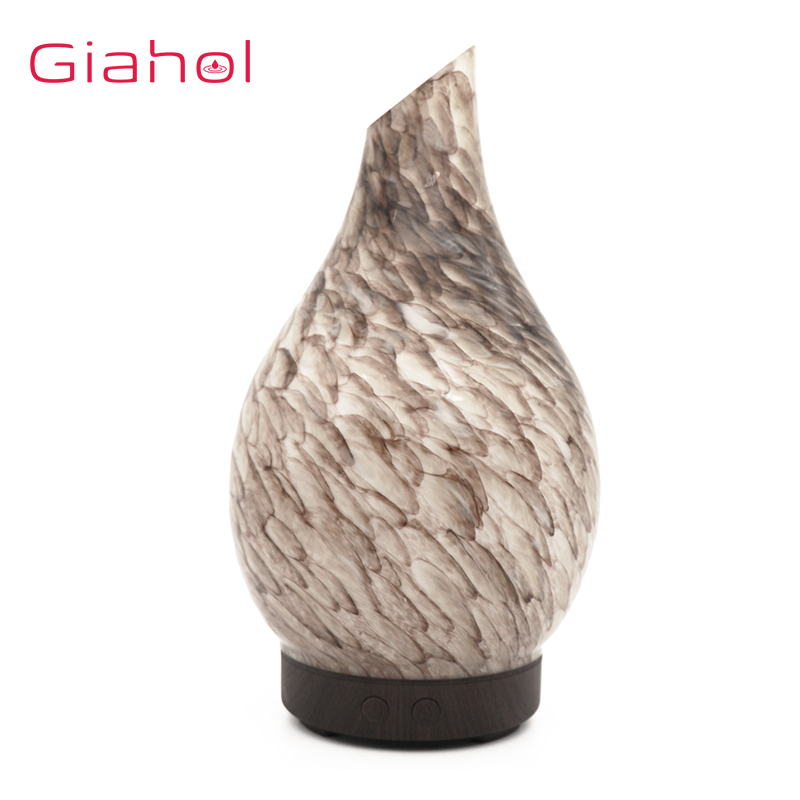 Marble Texture Humidification Aroma Essential Oil Diffuser LED Night Light Air Humidifier For Home Aromatherapy Mist Maker