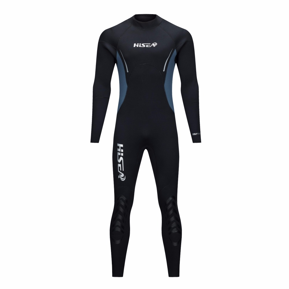 HISEA 5mm Neoprene Wetsuit Men Scuba Diving Suit Fleece Lining Warm Snorkeling Kite Surfing Spearfishing Swim