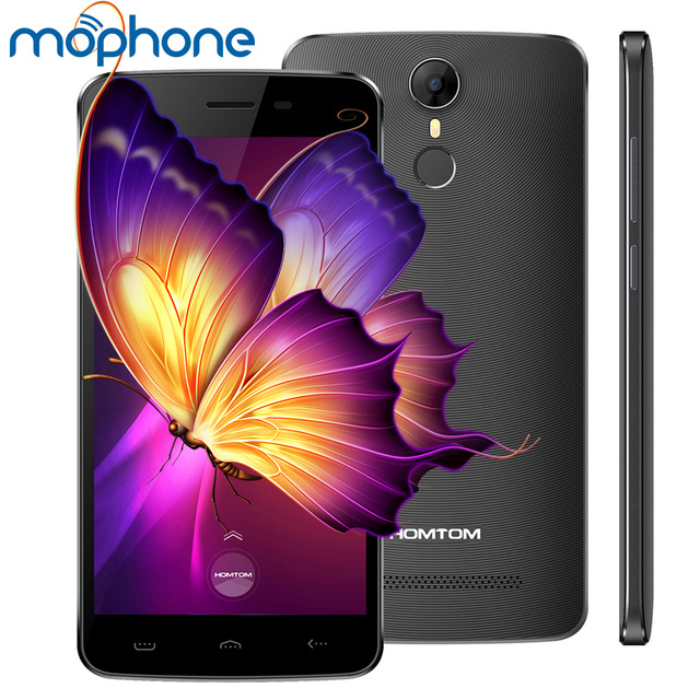 HOMTOM HT27 Smartphone 3G 5.5inch 1280*720pixel MTK6580 Quad Core 1GB + 8GB 8.0MP+5.0MP 3000mAh Battery Fingerprint Smart Phone