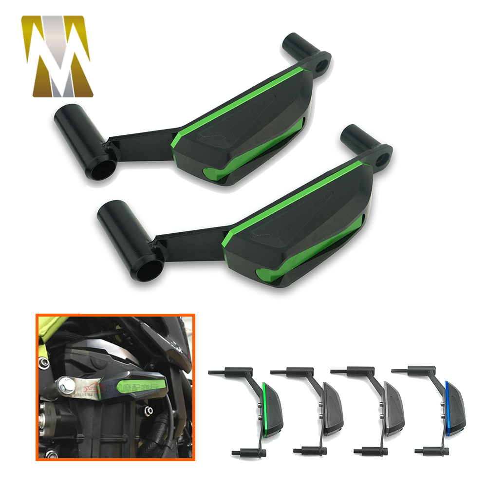 Motorcycle Engine Guard Cover Engine Sliders Crash Pads Frame Protector For Kawasaki Z900 2017 2018 CNC Aluminum Accessories motorcycle cnc engine protective pad cover falling protector sliders guard for kawasaki z900 2017 2018 z 900 17 moto accessory