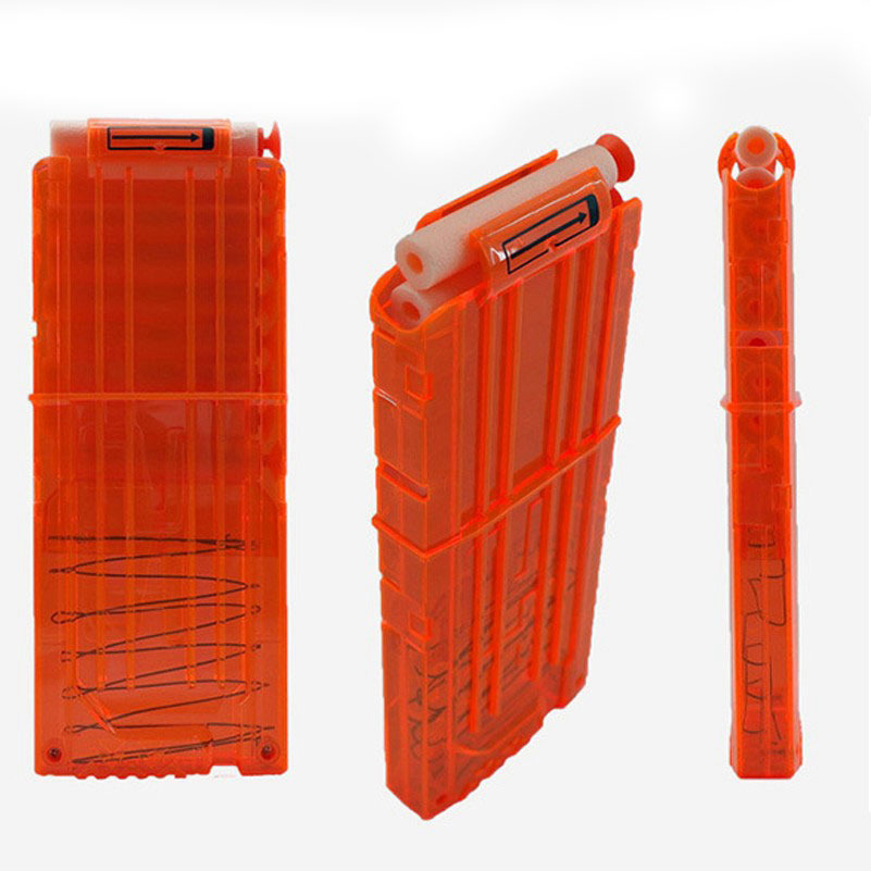 12-Reload-Clip-Magazines-Round-Darts-Replacement-Plastic-Magazine-Toy-Gun-Soft-Bullet-Clip-Orange-N-Strike-Elite-Kids-4