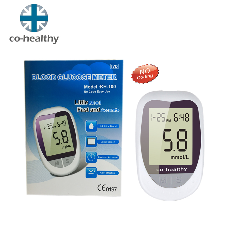 Co-healthy KH-100 blood glucose meter Diabetic with 50pcs Test Strips+50pcs Lancets Needles Blood Sugar Detection Glucose meter