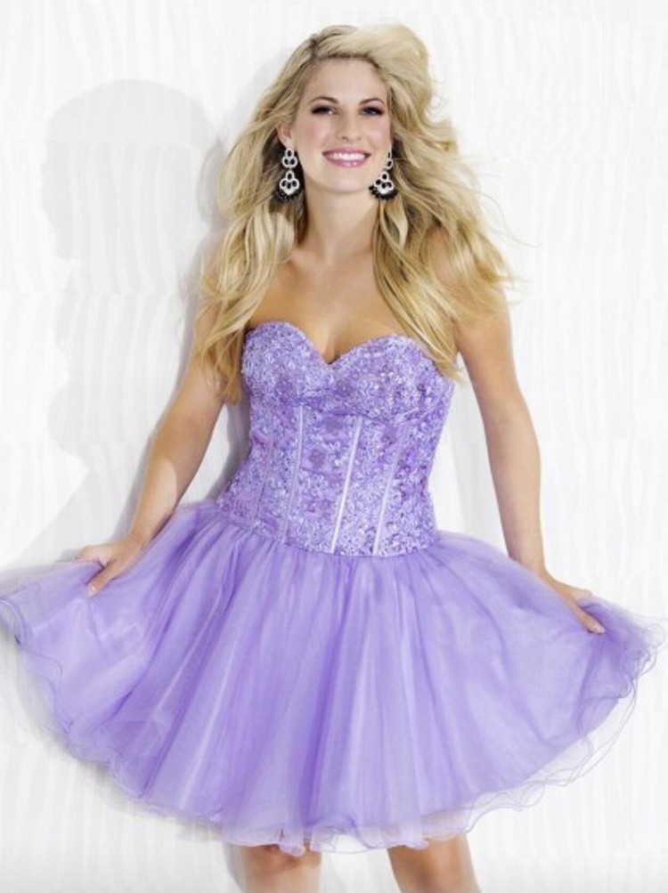 Popular Short Purple Prom Dresses-Buy Cheap Short Purple Prom ...