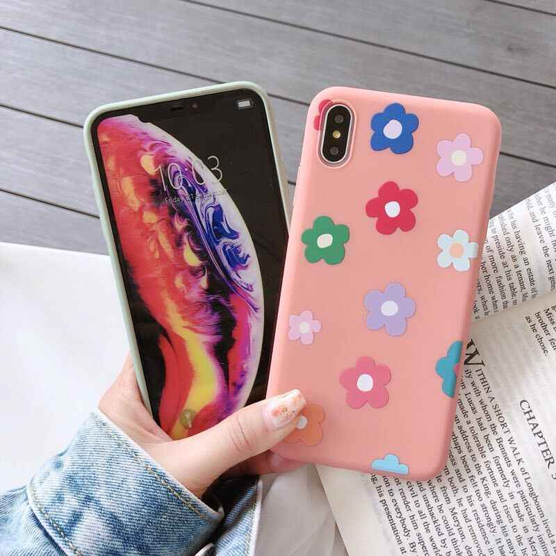 3D エンボス漫画の花ソフト TPU シリコーン Iphone 4 の 4s 用 XS 最大 XR 10 8 7 6 s プラス 8 プラス 7 プラス 6 プラスアクセサリー