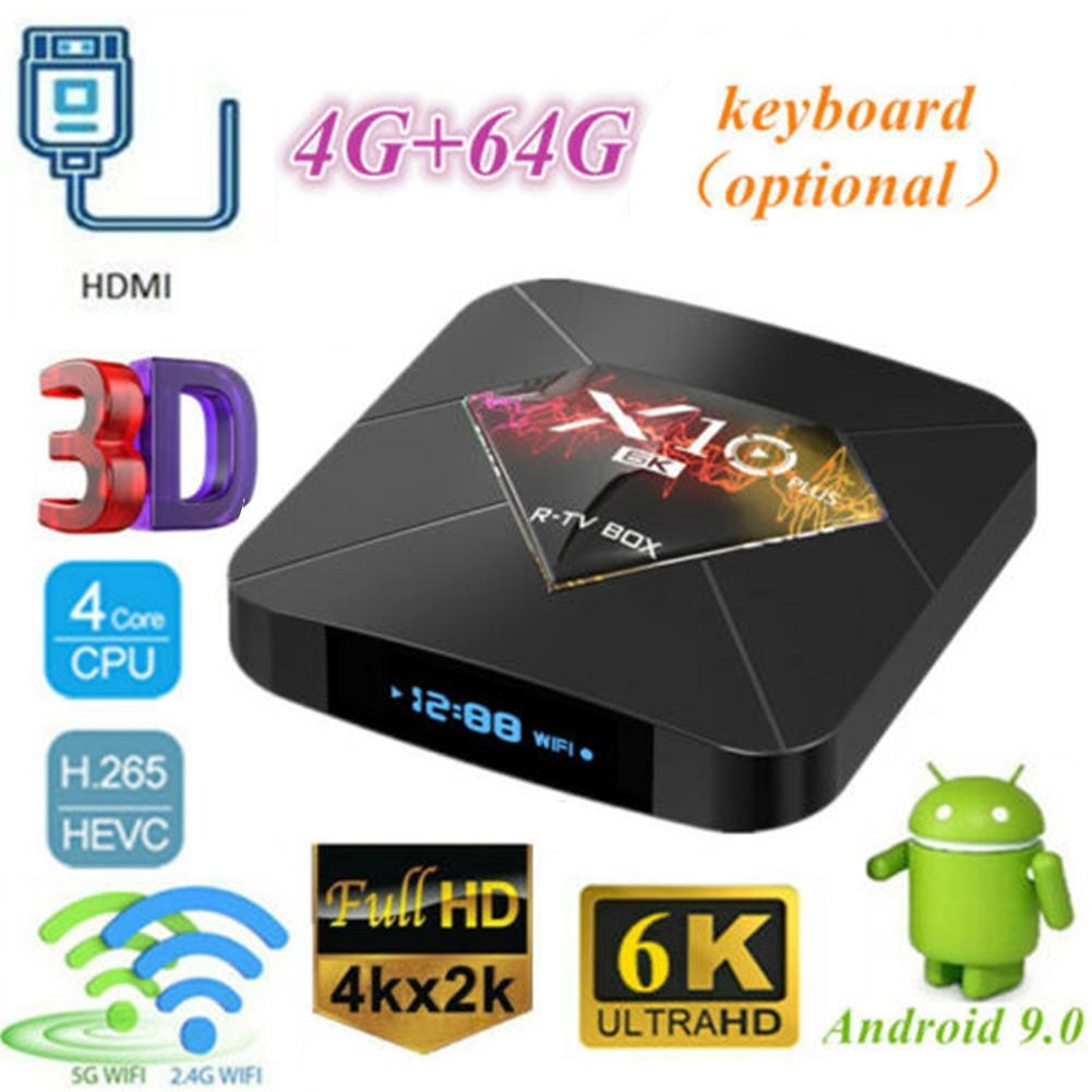2019 TV BOX Android 9.0 smart TV Box Allwinner H6 2.4G WiFi 4 GB RAM + 32/64 GB ROM décodeur USB 3.0 6 K H.265 smart media