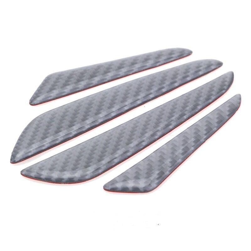 Автомобильная защитная наклейка из волоконного волокна на боковой край двери для Alfa Romeo 159 147 156 hyundai Solaris Tucson I30 IX35 Accent аксессуары - Название цвета: Sliver