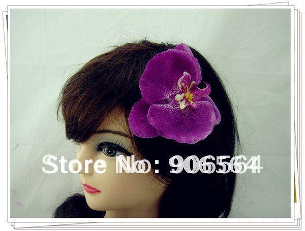 36 шт./лот U pick 6 цветов искусственная Орхидея цветок заколки для волос Свадебная Гавайская Вечеринка девушка заколка для волос аксессуары