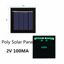 Poly Solar Panel 2V 100MA for Rechargeable 1.2V Battery with DC Small Motor