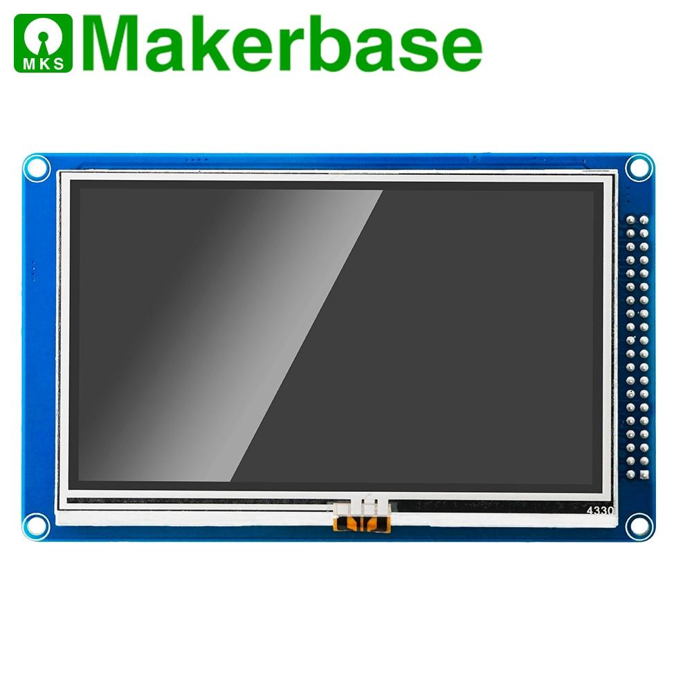 Makerbase 32 bits cloné duo 2 wifi V1.04 carte avec 4.3 ou 7.0 écran tactile Pandue pour pièces d'imprimante 3d CNC ender 3 pro - 5