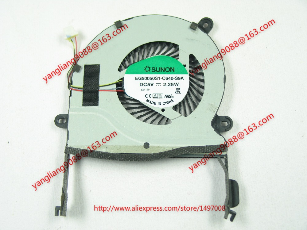 Free Shipping For  SUNON EG50050S1-C640-S9A DC 5V 2.25W  4-wire 4-pin connector 60mm Server CPU Cooling fan free shipping for sunon mf75251v1 q000 g99 dc 12v 2 7w 3 wire 3 pin connector 90mm server square cooling fan
