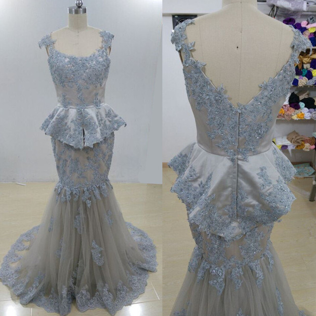 Arabic Dubai Long Mermaid Evening Dresses 2017 Prom dresses Fashionable  Fabulous Appliques Open Back Long Engagement Dress 381eff8f78b3