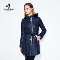 Snowclassic 2017 New Spring Long Jacket Women Coat Spring Autumn Parka Womens