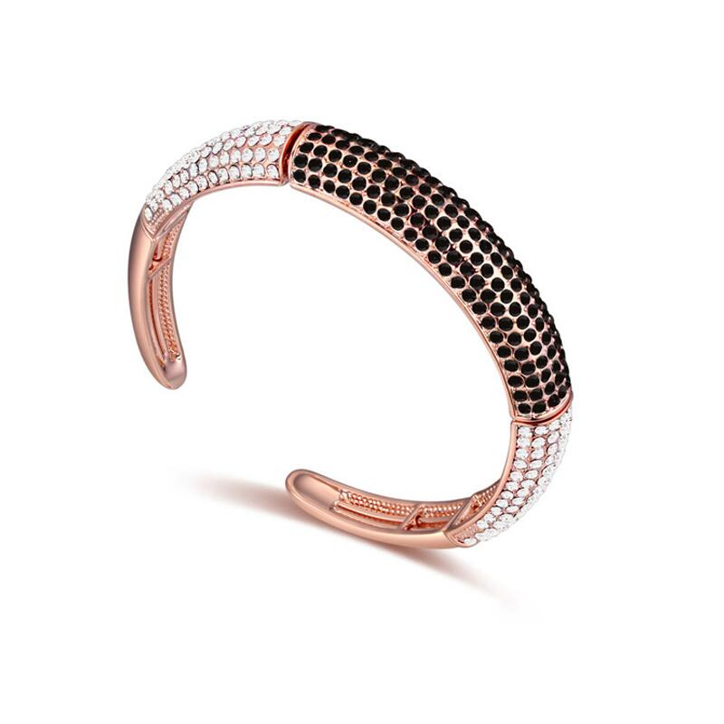 Us 25 99 Bracelet Female Sweet Bangle Jewelry With Austrian Full Crystal Open Cuff Bangles Bracelets Punk Jewellery For Lady Gifts In