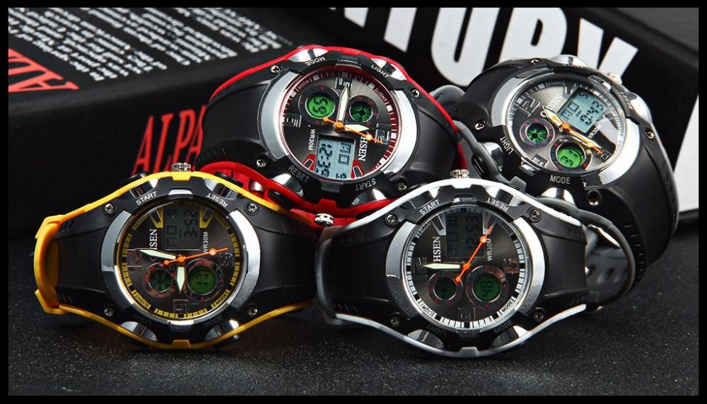 Original Ohsen Brand Fashion Sports Men's Watches 30M Waterproof Rubber Black Rubber Band Digital Sport Wristwatch for Men Gift (12)