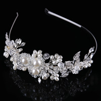 European Bride Handmade Glass Pearl Clasp Party Bride Tire Crown Manufacturers Selling Stage