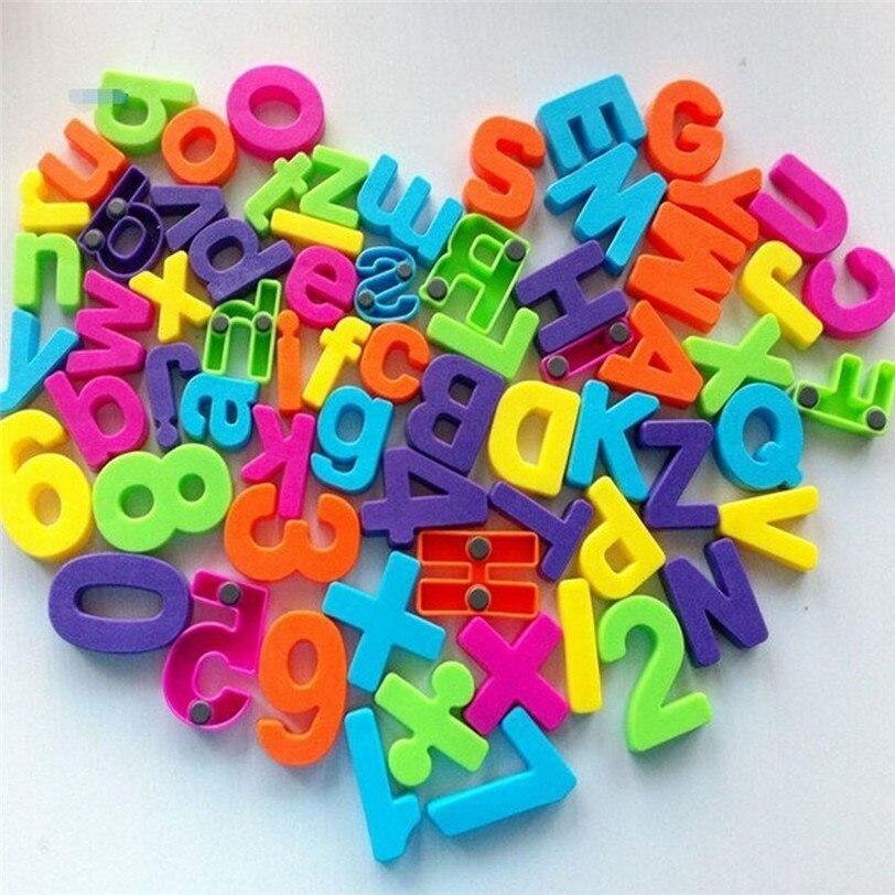 Магниты на холодильник наклейки 26 шт. Пластик магнитные цифры раннего обучения Развивающие игрушки для детей Прямая доставка