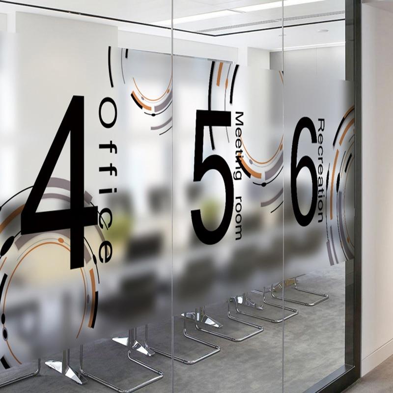 Office Sliding Glass Doors: Time Matte Decorative Glass Foil Explosion Proof