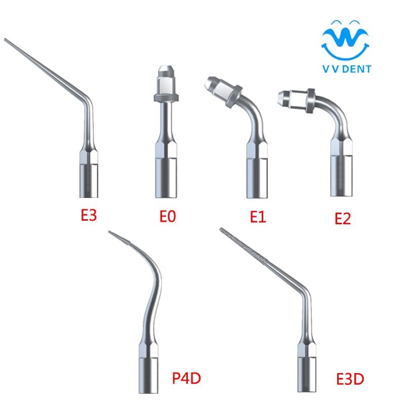 Dental Equipment 6pcs Scaler Tips Ultrasonic Dental Scaler Endo Tips For EMS Dental Scalings Endodontics